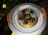Green Purple Orange Lime Fruity Glycerin Soap Cake Ready to ship