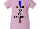"""Intake Exhaust"" Pink Creeper Baby Onesie"