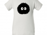 """Totoro Dust Soot Inspired"" White Creeper Baby Onesie"