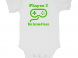 Video Game Controller Player 3 New Baby Onesie