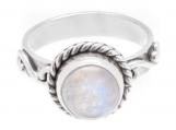925 solid sterling silver rainbow moonstone handmade Ring