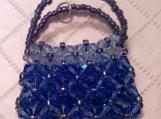 Blue Sapphire Crystal Purse Charm