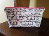 Cosmetics bag, makeup bag, cats, cat bag, medium, zippered bag, toiletries bag