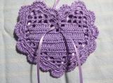 """Lavender 4""""X4"""" Heart Sachet-'Orchid Rain' Scent-Cindy's Loft-210"""