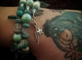Memory Wire Beaded Bracelet Indian Dreams