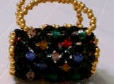 Multi Color Crystal Handmade Purse Charm