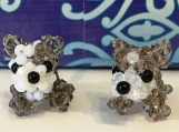 Pit Bull Puppy Handmade Crystal Charm