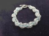 Hand beaded all glass beaded bracelet