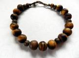 Jewelry Bracelet Brown Jasper Stones Copper Spacers