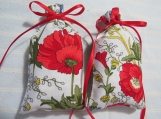 "Memorial Day Poppies 4""X2"" Sachet-'Violet & Birch' Scent-677"