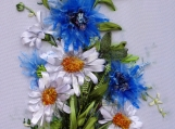"picture ""Wildflowers2"",  Silk ribbon embroidery, ribbonwork"