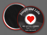 Save The Date - Vinyl 45, Record, Magnet, Wedding