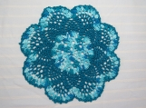8 Inch Shades of Turquoise Doily-Cotton Doily-Cindy's Loft