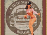 Auto Repairs Cross Stitch Pattern