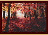 Autumn Woodland Cross Stitch Pattern