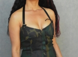 Green Camo Halter Corsetted Top - S, L
