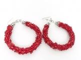 Handmade Crocheted Bead Earrings