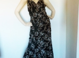 Lovely Black Floral Halter Mermaid Dress ( S )