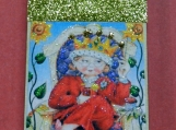 Mother's Day Gift Tag, The Queen Mother, Wood Glitter Tag