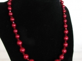 Red Glass Bead Jewelry Set