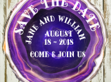 Save The Date, Agate Slices Digital Art, Crystal, Gem, Rock,