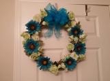 Daisy Decorative Door Wreath