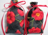 "Memorial Day Poppies 5""X2"" Sachet-'Spring Rain Fragrance-392"