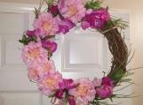 Pink Lovers Door Wreath
