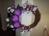 Purple Lovers Door Wreath
