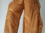 WL0008 Lady wide leg style lady pants with elastic waistband