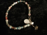 Flower Beaded Bracelet With Charm Butterfly