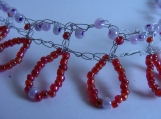 Funky Red seed bead crochet chocker