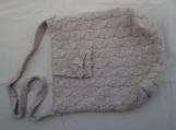 Beige wool sling bag