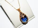 Elven Night pendant, swarovski pendant