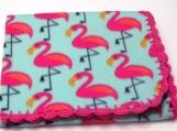 flamingo fleece baby blanket