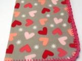 Fleece Heart Baby Blanket
