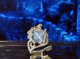 Magic Mirror, spiral ring, statement ring, Seer ring, elven ring