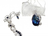 Purple Calling jewelry set, swarovski jewelry, water jewelry set