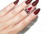 Whispers ring, elven ring, midi ring, knuckle ring, gothic ring