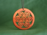 Celtic Jewelry, Triskele Pendant, Sun Spiral Necklace, Scottish Jewelry, Pictish Spiral, Deep Red