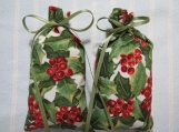 "Christmas 4""X2""Green Sachet-'Frosted Peak Tops' Scent-440"