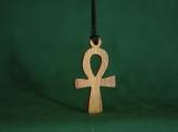 Ankh Necklace, Wood Ankh Pendant, Egyptian Cross, Symbol of Life, Key to the Nile, Eternal Life, Egyptian Charm
