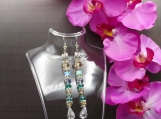 Crystal Tail Earrings Set