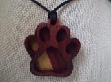 Dog Paw Pendant, Pet Jewelry, Rainbow Bridge Necklace, Custom Dog Momento, Personalized Handcraftedwood pendant