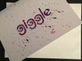 Giggle Hand-painted Watercolor Greeting Card