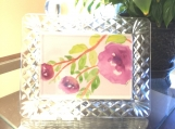 Purple Blooming Floral Hand-painted Watercolor Greeting Card