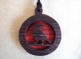 Raven Necklace, Spirit Animal Jewelry, Raven Pendant, Native American jewelry, Black Bird, Handcrafted pendant