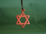 Star of David Necklace,  Hand carved Jewlery, Jewish Pendant, Exotic Wood Star Of David, Mother's Day Gift, Father's Day Gift