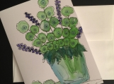 Vase of Flowers Hand-painted Watercolor Greeting Card