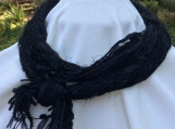 Black Yarn Infinity Scarf